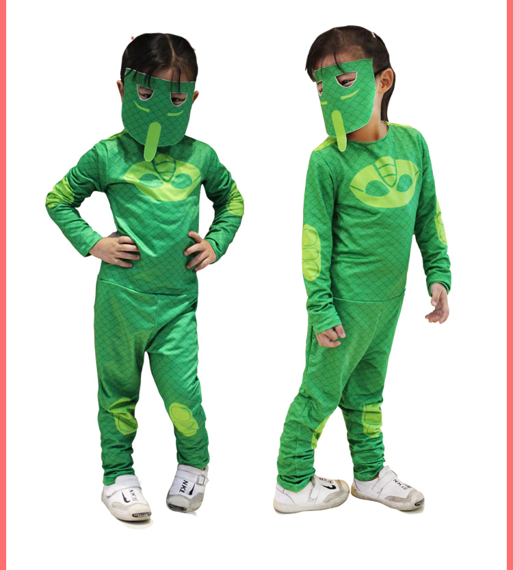 KIDS Pj Mask Cosplay Costume Second Skin Spandex Tight Suit Halloween  Masquerade Cosplay Costume two colour no cloak-in Boys Costumes from  Novelty &