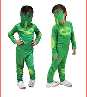 KIDS Pj Mask Cosplay Costume Second Skin Spandex Tight Suit Halloween Masquerade Cosplay Costume Two Colour