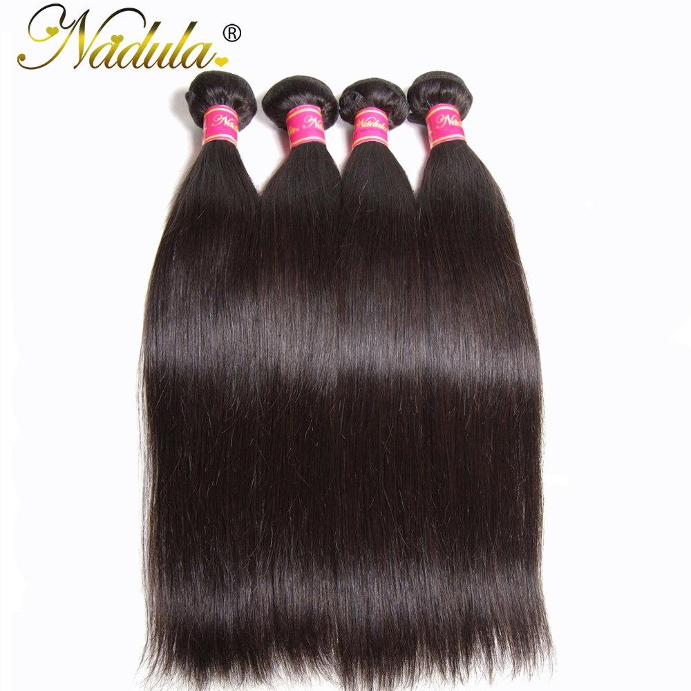 Nadula Hair Peruvian Straight Hair Weaves 8 30INCH 100 Human Hair Extensions Non Remy Hair 1