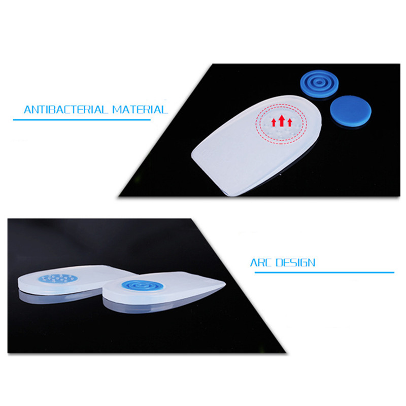 Gel Pads Silicone Sports Insoles Heel Spurs Pain Absorbed Achilles Tendonitis Heel Pads Insoles For Men Women Shoes Accessoires