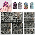 10 Стили DIY Nail Art Плиты Изображения Шаблона Штемпеля Штамповка Маникюр Инструмент