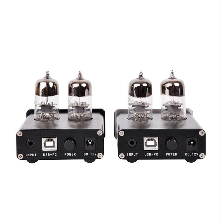 Nobsound Mini Vacuum 6J9 Tube Amplifier Stereo & USB DAC & Audio Preamp & PC Sound Card Mini Home Audio Headphone Amp-in Amplifier from Consumer Electronics    3