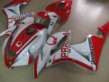 Литья под давлением 100% новый комплект обтекателя для Honda CBR600RR 07 08 Белый Красный ABS Обтекатели комплект CBR600 RR 2007 2008 DC13