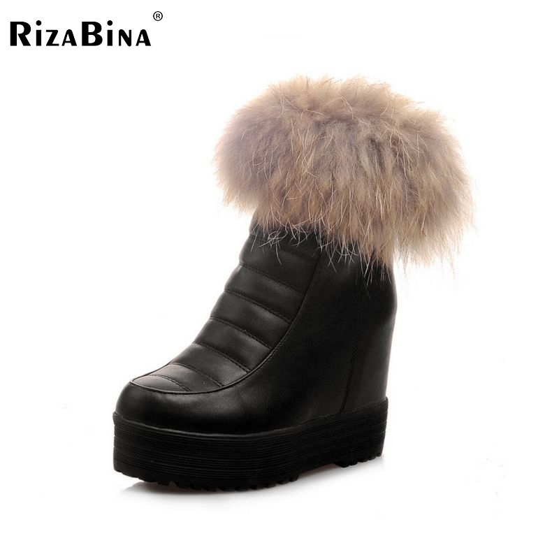 ФОТО women wedge boots half short snow boot warm winter bota feminina cotton leisure footwear fur heels shoes P20338 size 34-39