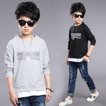 Kids boys spring / autumn lengthy sleeves T-shirt 2017 new child boy clothes trend wave T-shirt three/four/5/6/7/eight/9/10/11/12/13/14