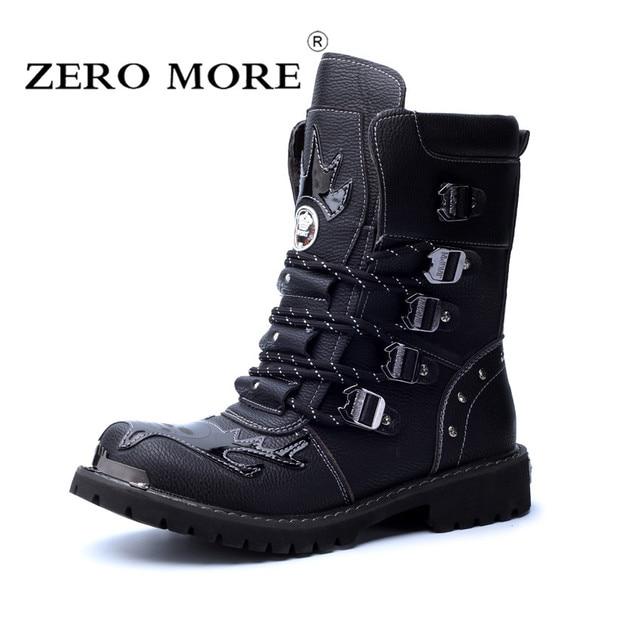 Cuir Militaire De Zéro Combat Hommes Bottes Plus Fendu En qnAwPzfxg