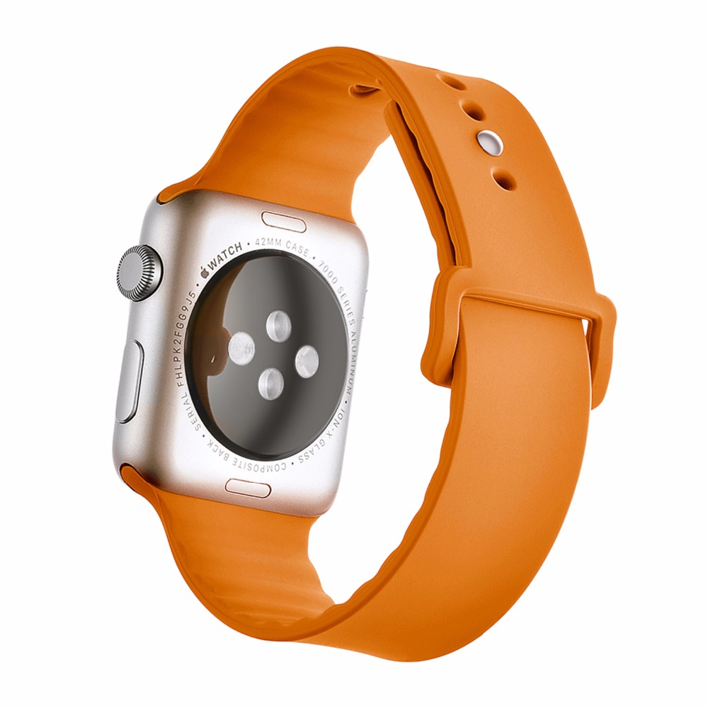 CRESTED Sport Silicone strap For Apple Watch band 42 mm 38 mm Rubber watchband With Adapter for Iwatch Series 1 2 3 watch strap