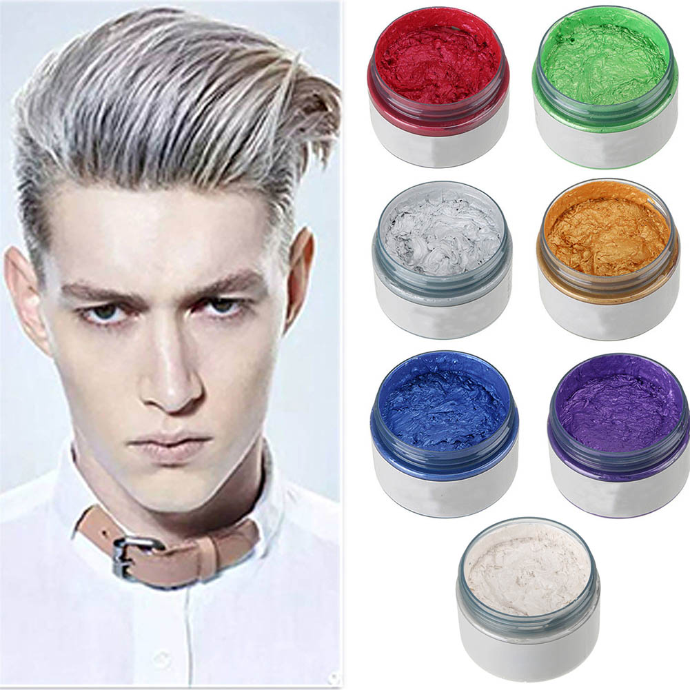Unisex Diy Hair Color Wax Mud Dye Cream Temporary Modeling