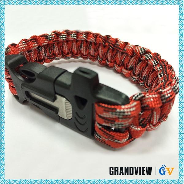 Professional Compeive Price Nice Quality Braid Paracord Survival Bracelet Brand Name