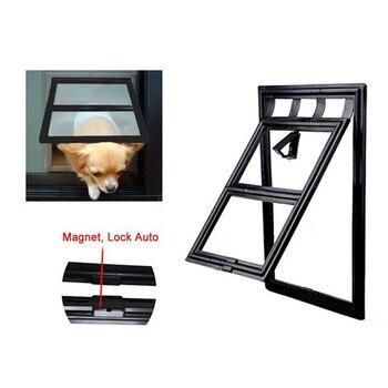 Pet Dog & Cat Gates Door Lockable Gate Way Cat Dog Pet Door Magnetic Flap Door for Screens Anti-mosquito Pet Supplies Hot New 1