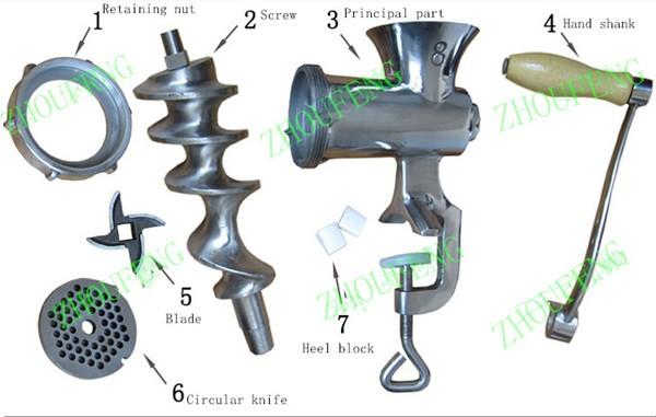 manual ZF grinder garlic 4