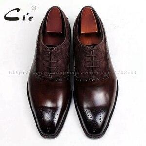 Image 4 - משלוח חינם דבק קרפט cie עור עגל עליון פנימי של הגברים outsole בנות אוקספורד צבע חום עם נעל עור זמש OX207