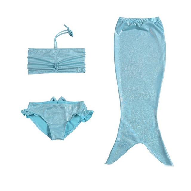 Plus Size Hot sale Mode Girls Mermaid Princess Swimming Suit Tail Cosplay Six Style Children Bikini Set Summer Swimwear 62045