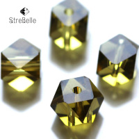 Fancy Cube Color High Quality Square Shape8 8mm Faceted Glass Crystal Beads Create Your Style Free