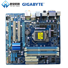 Original Used Desktop Motherboard Gigabyte GA-H55M-UD2H H55 LGA 1156 i7 i5 i3 DDR3 16G SATA2 USB2.0 DP E-Sata IEEE1394 Micro-ATX for msi p43 c53 h original used desktop motherboard for intel p43 socket lga 775 ddr3 16g atx