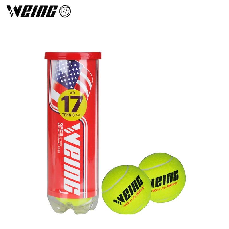 WEING 3pcs/set High Elasticity Durable Tennis II Training Ball Sport Training Rubber Fiber Tennis Balls For Tennis Sports Practi