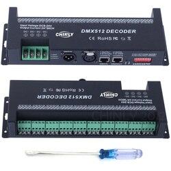 DMX 512 فك 30 قنوات DMX RGB تحكم زينت مصابيح ليد للإضاءة الشريطية باهتة الساخن بيع تيار مستمر 9 فولت-24 فولت السائقين وحدات تحكم