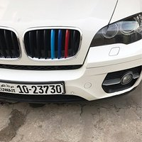 For BMW X5 E70 3D 2008 2013 Front Grille Trim Strips grill Cover motorsport Decoration Stickers