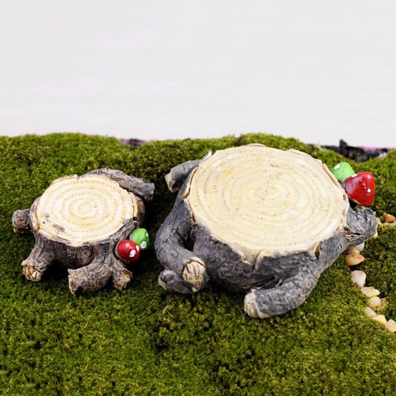 Cute DIY Mushroom Craft Pot Fairy Dollhouse Small Tree Stump For Miniature  Garden Ornament Party Decoration