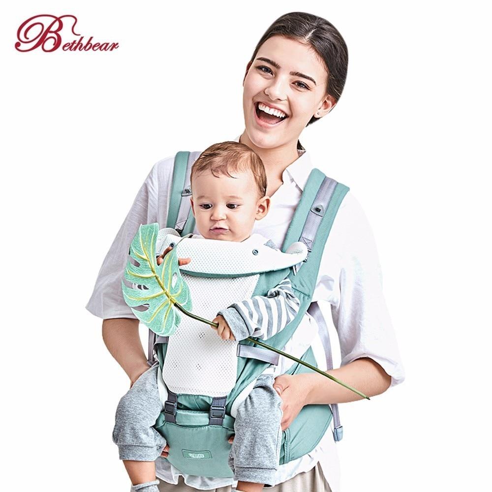 BethBear Baby Carrier 4 In 1 Hipseat Mochila Infantil Canguru Baby Backpacks Sling Carriers Ergonomic Mochila Newborn 0-36 Month bethbear 3 in 1 baby carrier hipseat ergonomic baby carrier 0 36 months ergonomic 100