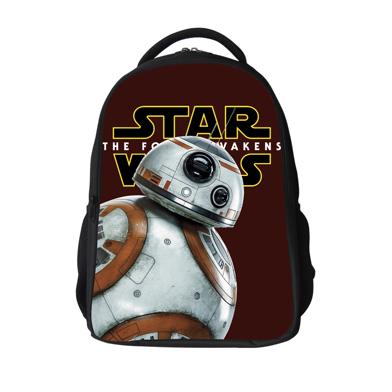 ed05aacf663f 16 12Inch Popular School Bag BB8 Cartoon Backpacks Child Star Wars Backpack  For Kids Boys Star Wars Bag For Girls Teenagers Bags