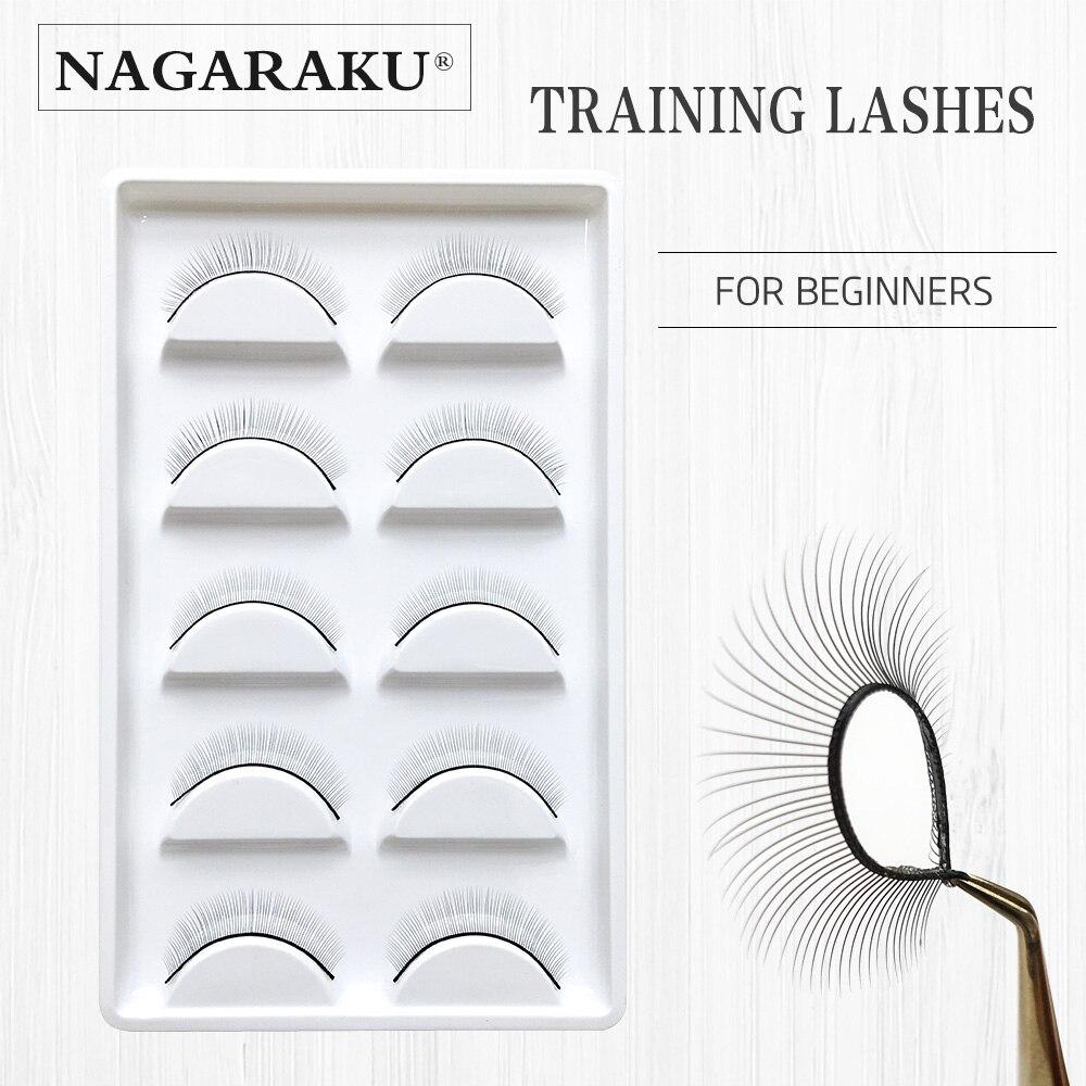 NAGARAKU 5 Pairs/Set False Eyelashes Handmade Training ...