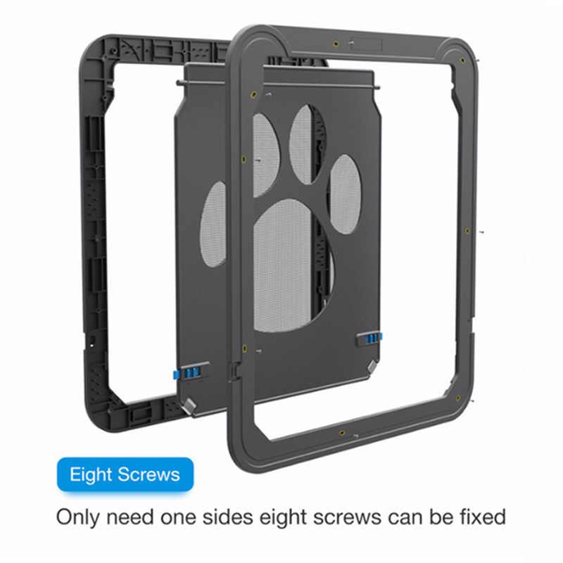 בית 37x42cm Pet מסך דלת כלב טביעת רגל דפוס חתול מחמד דלת חלון מסך כלבלב דש בטוח חיות מחמד ספקי