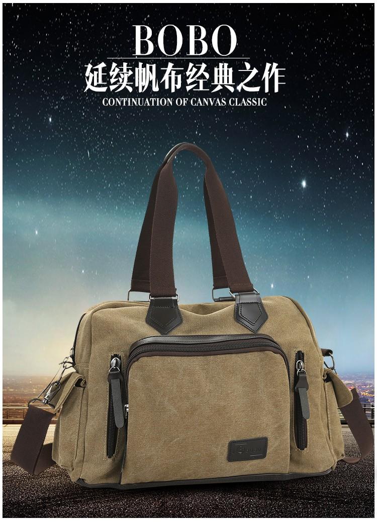 2016 men\'s travel bag canvas men messenger bag brand men\'s bag vintage style briefcase,Travel Shoulder bag (1)