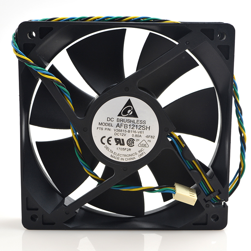 SSEA New cooling <font><b>fan</b></font> for Delta AFB1212SH 12V 0.80A 12025 <font><b>12CM</b></font> <font><b>PWM</b></font> double ball bearing 120*120*25mm image