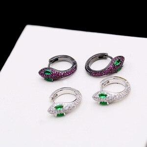 Image 5 - Einfache Mode Einzigartige Kreative Schlange Ohrringe Kleine Und Exquisite Lustige Tiere Ohrringe Für Frauen ZK40