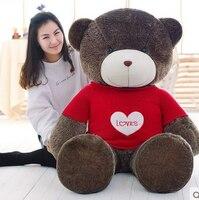 Большой плюшевый круглые глаза красный любовь свитер мишки игрушки огромный медведь кукла подарок около 160 см