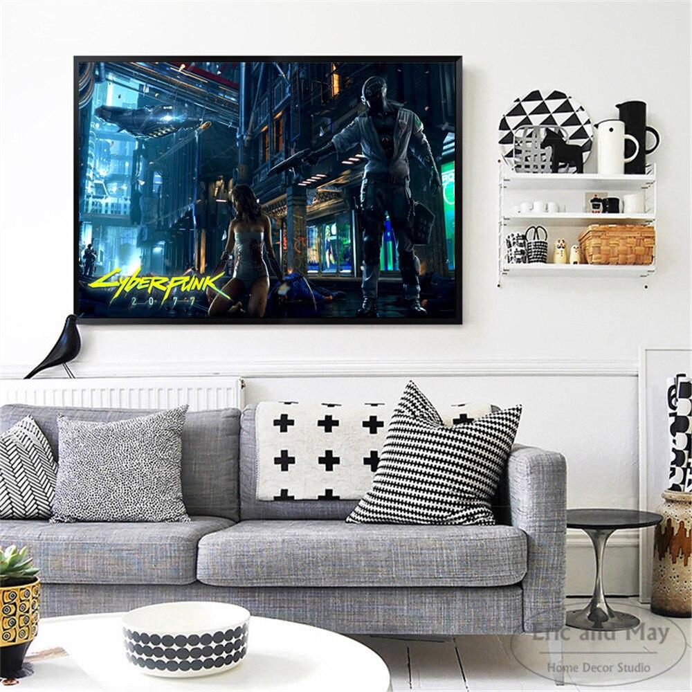 Cyberpunk 2077 Video Game Art Canvas Print Painting Modern