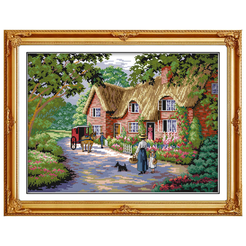 Life in Countryside Counted Cross Stitch 11 14CT Cross Stitch Sets landscape Cross Stitch Kits Embroidery Home Decor Needlework