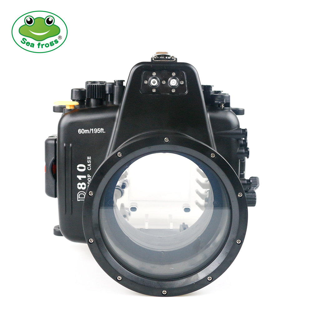 Underwater 60m Photograph for Nikon D810 105mm Camera Housing Waterproof Case Professional Diving Shooting Protective Cover Bag