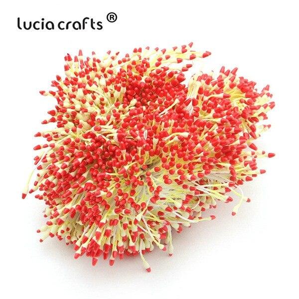 288 шт 60 мм разноцветные варианты наконечник пестик тычинка цветок тычинка украшения торта двойная головка тычинки D0501 - Цвет: color 1