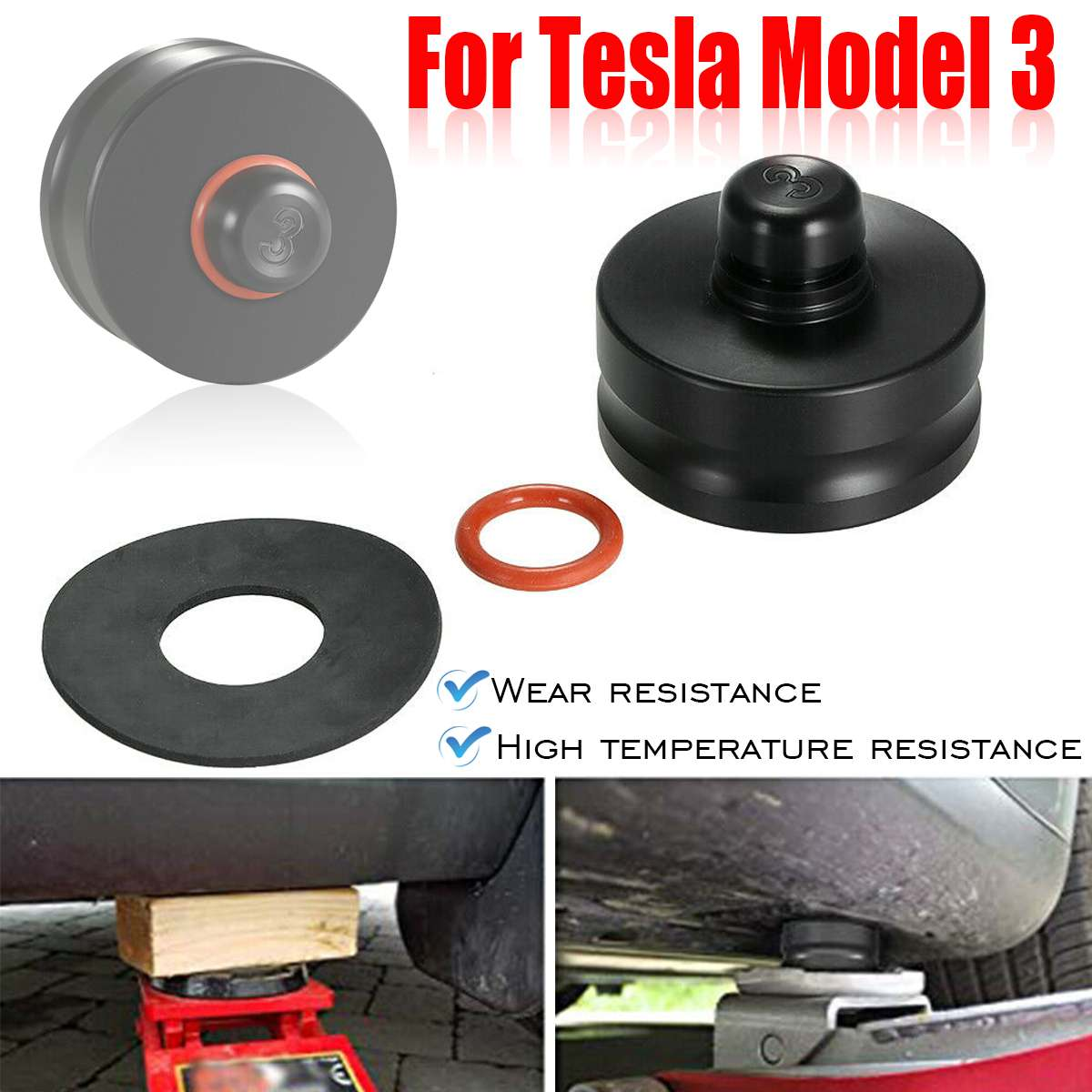 1Pcs Jack Lift Point Pad Adapter Jack Pad Tool Chassis Dedicated Car Styling Tools For Tesla Model 3 All Models