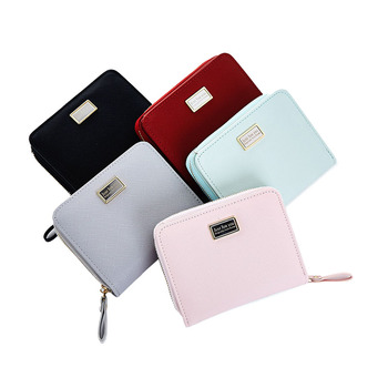 10PCS / LOT Women Small Wallets Credit Card Photo Holder Purse for Ladies Girls 2018 Short Leather Wallets