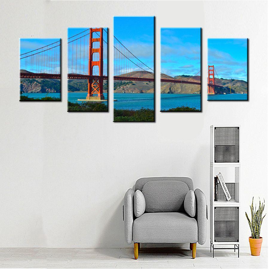 San Francisco Golden Gate Bridge Canvas Print Large Photo