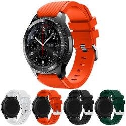 Pulseiras de relógio Preto 22mm luxo Nova marca Dos Esportes Da Forma de Silicone Pulseira Banda Cinta Para Samsung Engrenagem S3 Frontier 2018 Quente venda