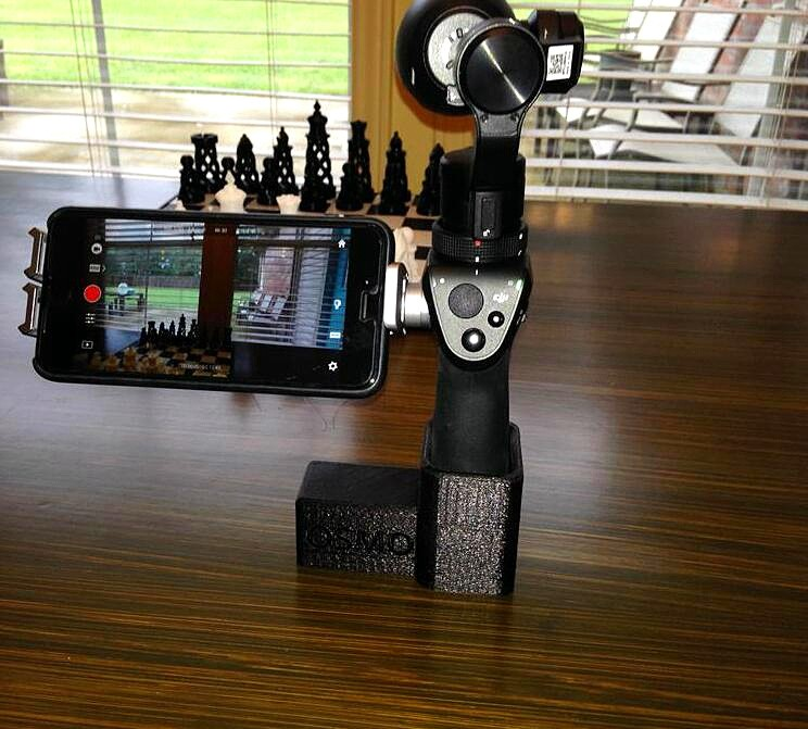 Black 3D Printed DJI OSMO Handheld Gimbal Stand Holder Mount Base DJI OSMO Accessories