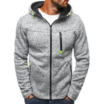 Plus Size 3XL Men Hoodies 2018 Autumn Winter Hooded Sweatshirts Slim Zipper Mens Coat Bomber Jackets Sportwear Moletom Cardigan