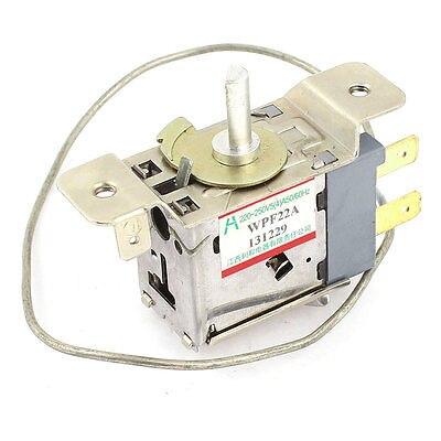WPF22A AC 220-250V Refrigerator Refrigeration Thermostat w 30cm Metal Cord ac 250v 4a 4 celsius bimetal refrigerator defrost thermostat bc6014