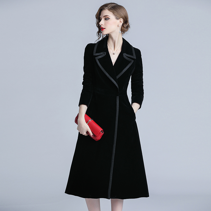 Autumn Velvet Women's Windbreaker Stylish Casaco Feminino   Trench   Coat For Women Long Wind Coat Overcoat   Trench   Female