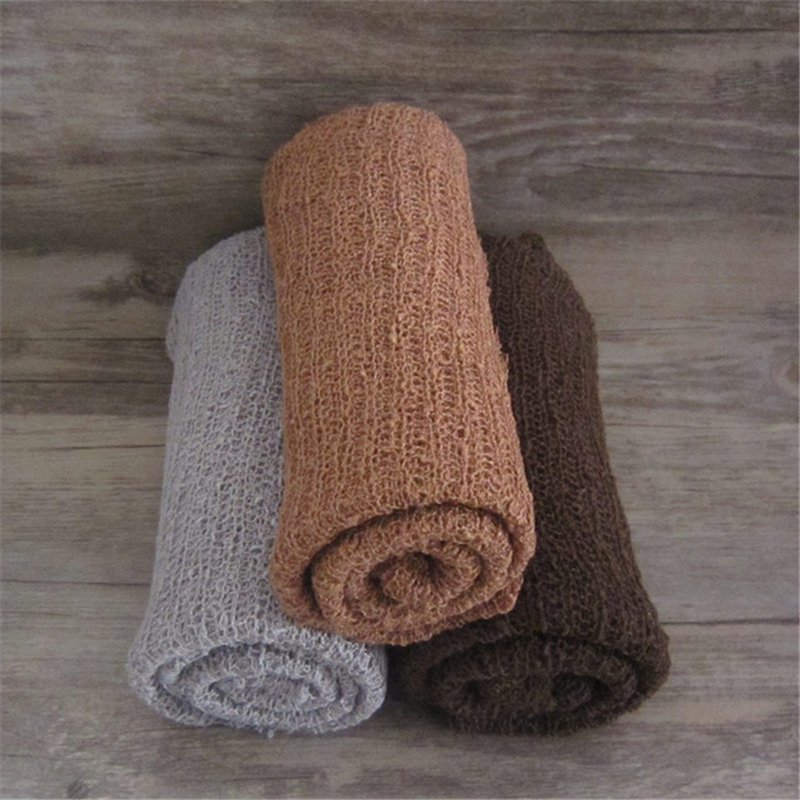 40x150cm Stretch Wrap Photography Props,Knitted Fabric newborn stretch Wrap,rayon knit fabric for baby photo props Blankets