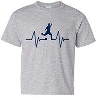 Soccering Player Kicking Ball Love Heartbeat T Shirt Free Shipping Men T Shirt New 2018 Fashion