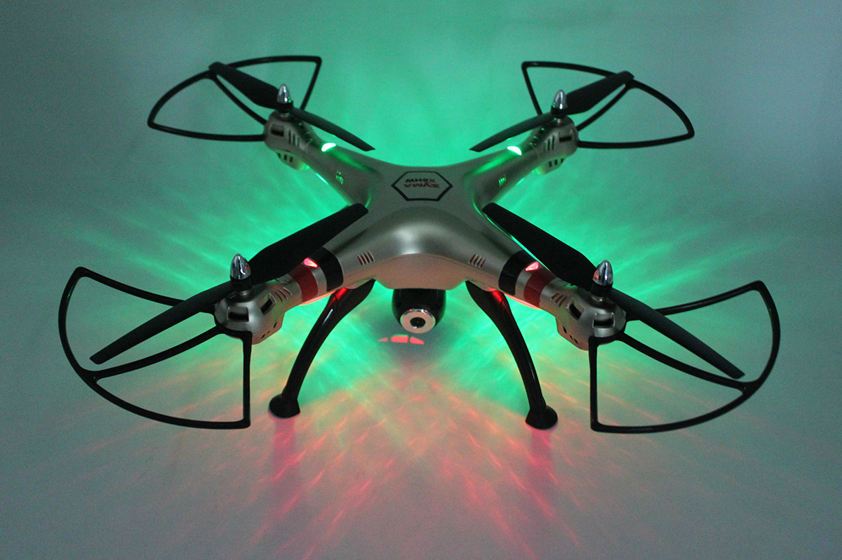 Tout nouveau Drone gyrorotor RC quadrirotor SYMA X8HC 2.4 Ghz 6 axes avec caméra Camra HD 2.0MP hélicoptère quadrirotor RC grand Angle VS X8C - 5