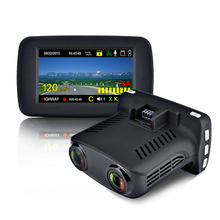 Luturadar car dvr radar detector 3 in 1 dash cam anti police laser speed camera Russian voice alert Ambarella A7 with full band