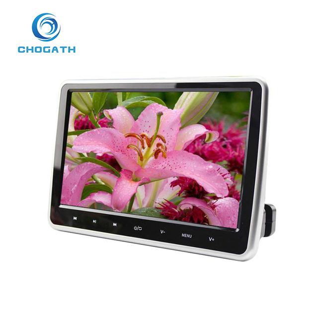 Nueva Llegada de 10.1 Pulgadas de ALTA DEFINICIÓN TFT Lcd Reposacabezas Monitor Del Coche DVD/USB/SD del Jugador HDMI