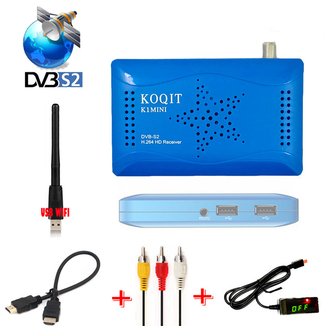 N/S America FTA DVB-S2 Digital Satellite Receiver Youtube TV 1080P lnb receptor TV Tunder IKS Cline SKS Biss Power Vu USB Wif