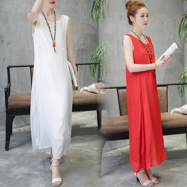617b150f8fd Summer Sundresses Long Dress Pregnant Women Boho Beach Casual O Neck  Sleeveless Large Size Vestidos Robe Maternity Clothes CE878